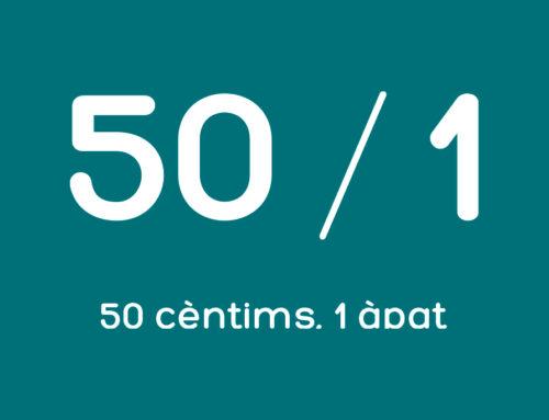 50 cèntims, 1 àpat